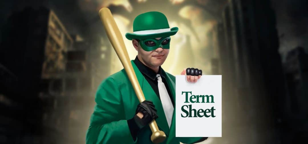 Venture Me This Batman; Show me your term sheet